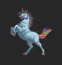 Unicorn colorful graphic vector