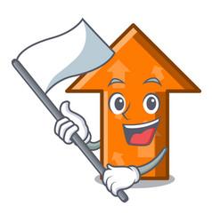 with flag arrow mascot cartoon style vector image