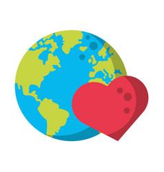 world map earth globe cartoon vector image