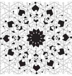 Ethnic black and white seamless pattern vector