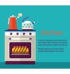 Kitchenware concept with oven vector image vector image