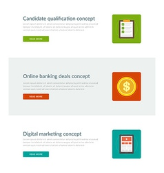 Website Headers or Promotion Banners Templates and vector image vector image