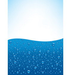 Blue water drops background with many drops vector