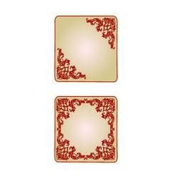 Button banner valentine heart red vintage frame vector image vector image
