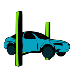 car on the lift icon cartoon vector image