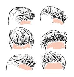 fashion set of hipster man hair style vertor set vector image vector image