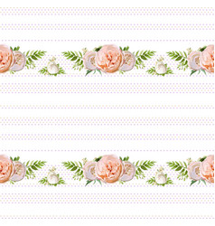 floral summer seamless pattern design bouquets of vector image vector image