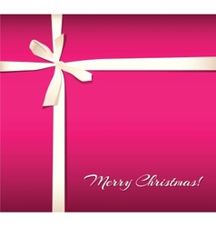 Holiday background with bow vector image vector image
