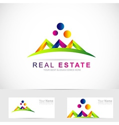 Real estate abstract logo vector image