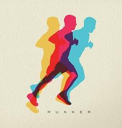 Runner sport man silhouette concept design vector image vector image