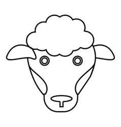 Sheep icon outline style vector