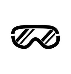 Ski goggles icon on white background vector image vector image