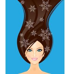 winter woman vector image vector image