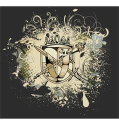 grunge vintage emblem vector image vector image