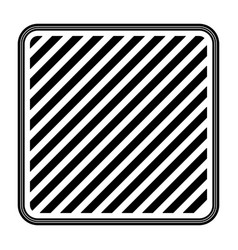 square emblem striped in monochrome silhouette vector image vector image