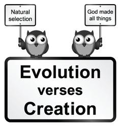 Evolution verses Creation vector image