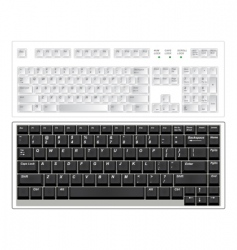 keyboards vector image