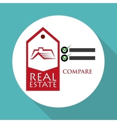 Real estate design home concept Property icon vector image