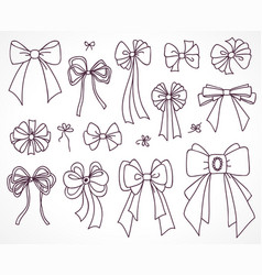 set of bows for the design vector image vector image