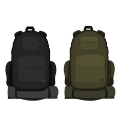 Travel backpacks Green and black vector image