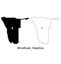 1121 windhoek namibia vector image
