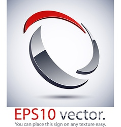 3D modern logo icon vector