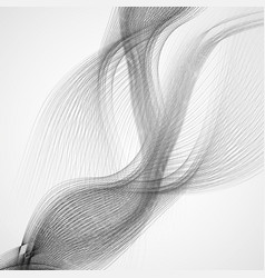 abstract background with gray waves lines vector image