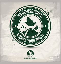 alternative eco dump stamp vector image