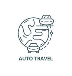 auto travel line icon auto travel outline vector image