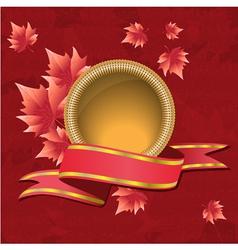 Autumnal design vector