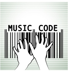 Barcode as music vector image