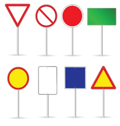 Blank traffic sign set two vector