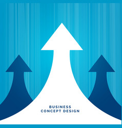 Business concept leadership design with arrow vector