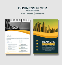 Business flyer layout background vector