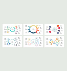 Business infographics organization charts with 7 vector