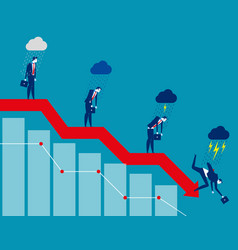 business on falling down chart concept business vector image