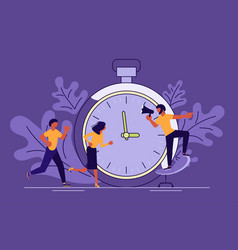 Business people running in office vector