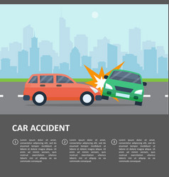 car accident template vector image