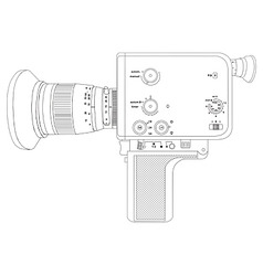 Cine camera vector