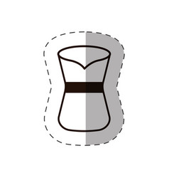 Coffee pot front view vector