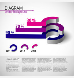 colored realistic diagram template vector image