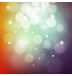 Colorful bokeh light Vintage background Vecor vector