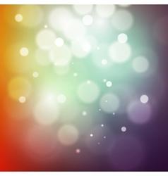 colorful bokeh light vintage background vector image