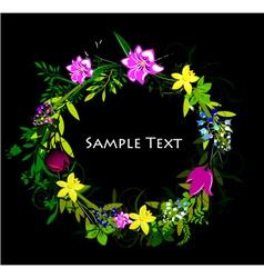 colorful spring floral frame vector image