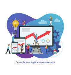 cross platform app development process concept vector image