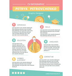 Cv creative infographic template vector