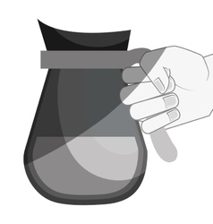 delicious coffee teapot drink vector image