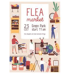 Designer market flat poster template vector