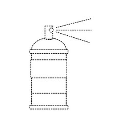 Dotted shape aerosol spray can paint art vector