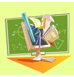 Education retro cartoon vector